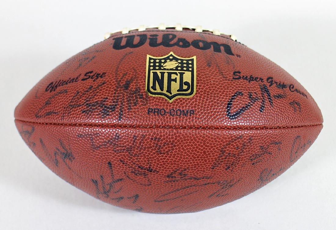 AUTOGRAPHED FOOTBALL - UNKNOWN TEAM