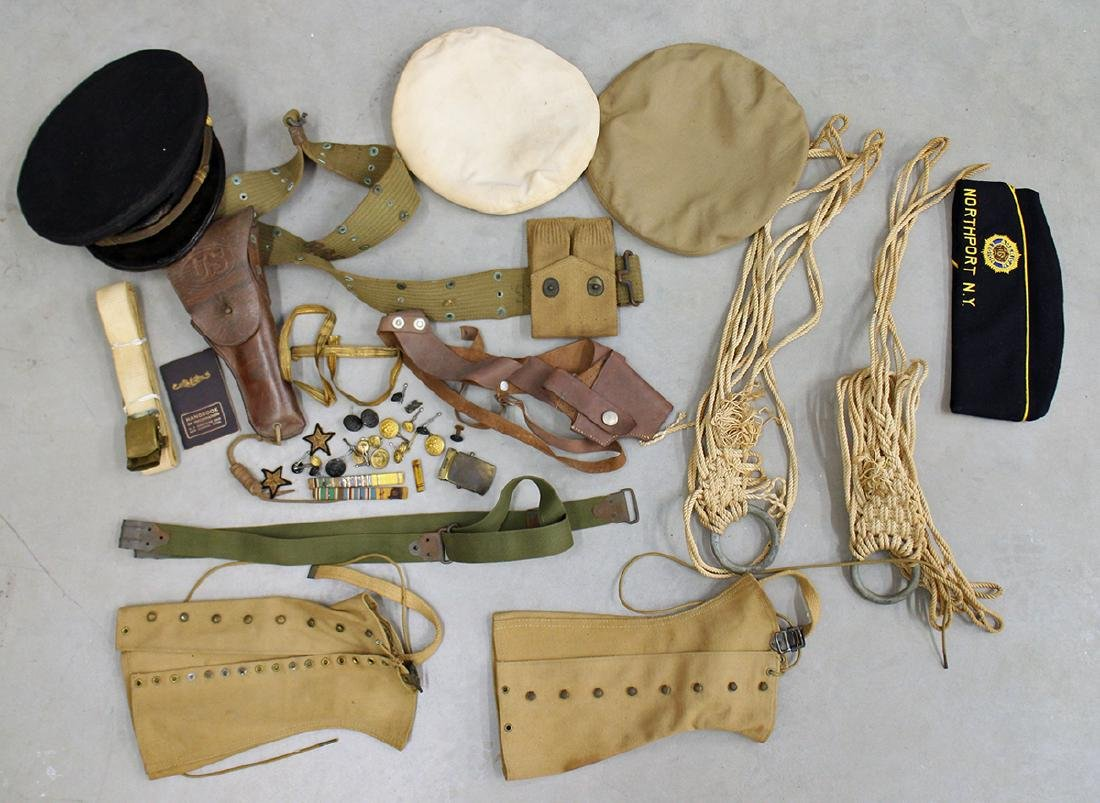 WWII NAVAL HATS, MEDALS, & MORE