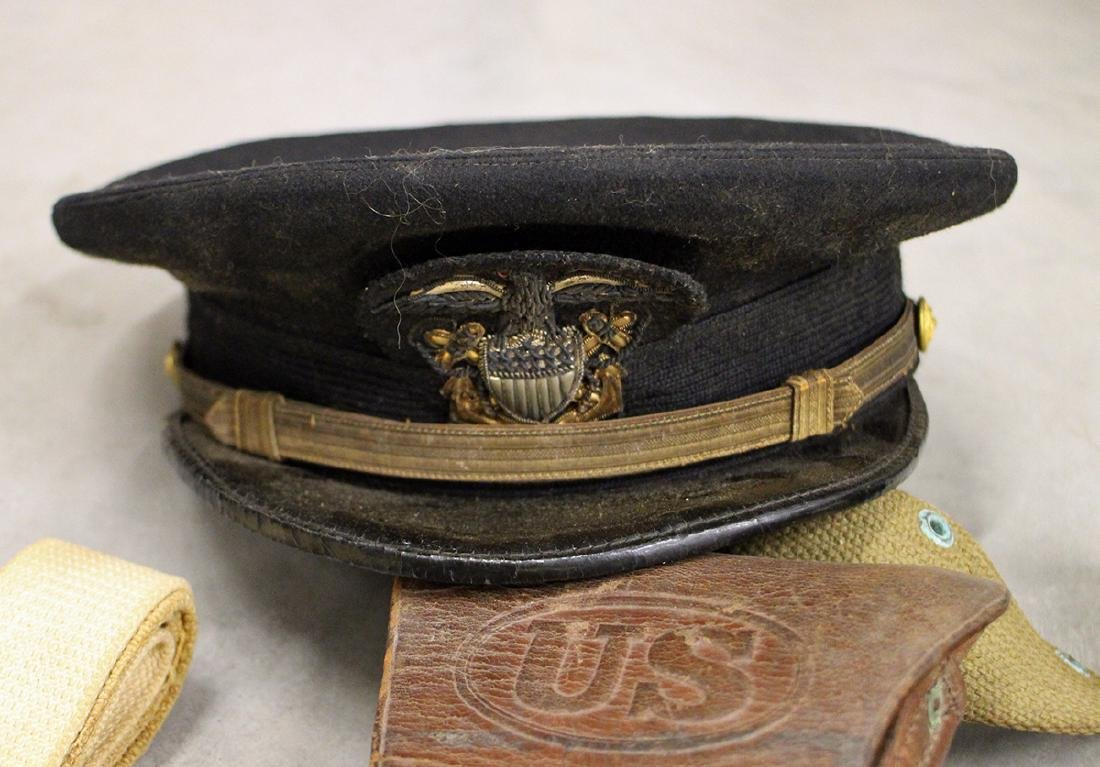 WWII NAVAL HATS, MEDALS, & MORE - 3