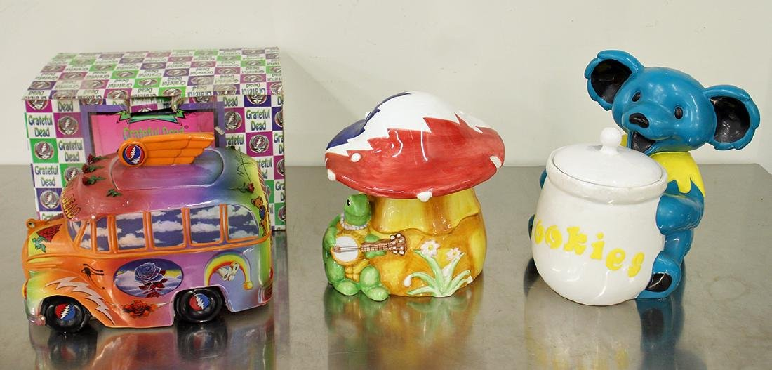 (3) THE GRATEFUL DEAD COOKIE JARS