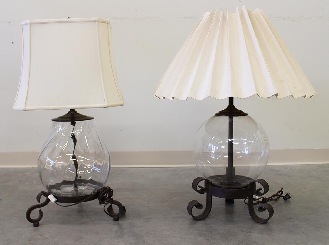 (2) DANA CREATH FORGED IRON TABLE LAMPS