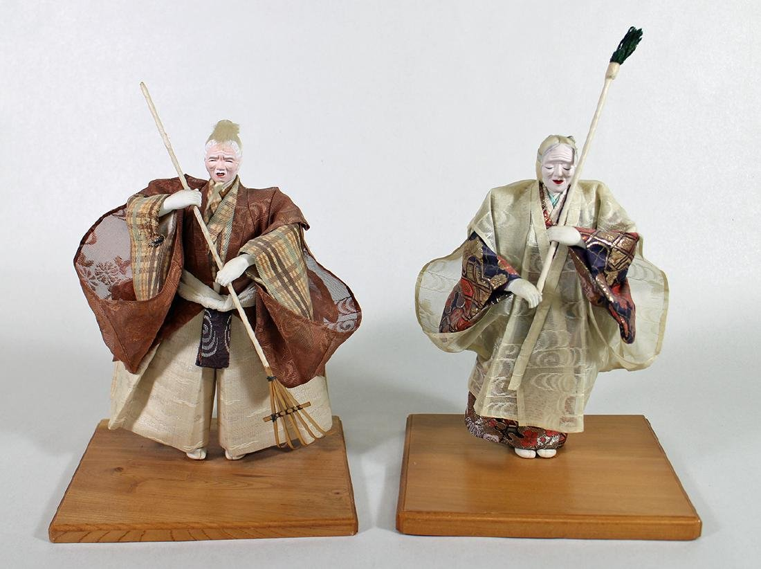 PAIR OF JAPANESE MUSHA NINGYO DOLLS