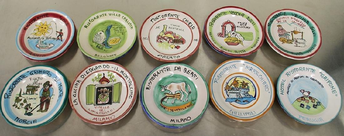(22) BUON RICORDO ITALIAN RESTAURANT PLATES