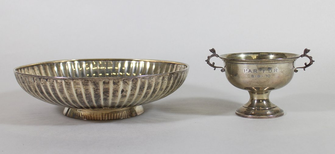 STERLING SILVER BOWL & COMPOTE