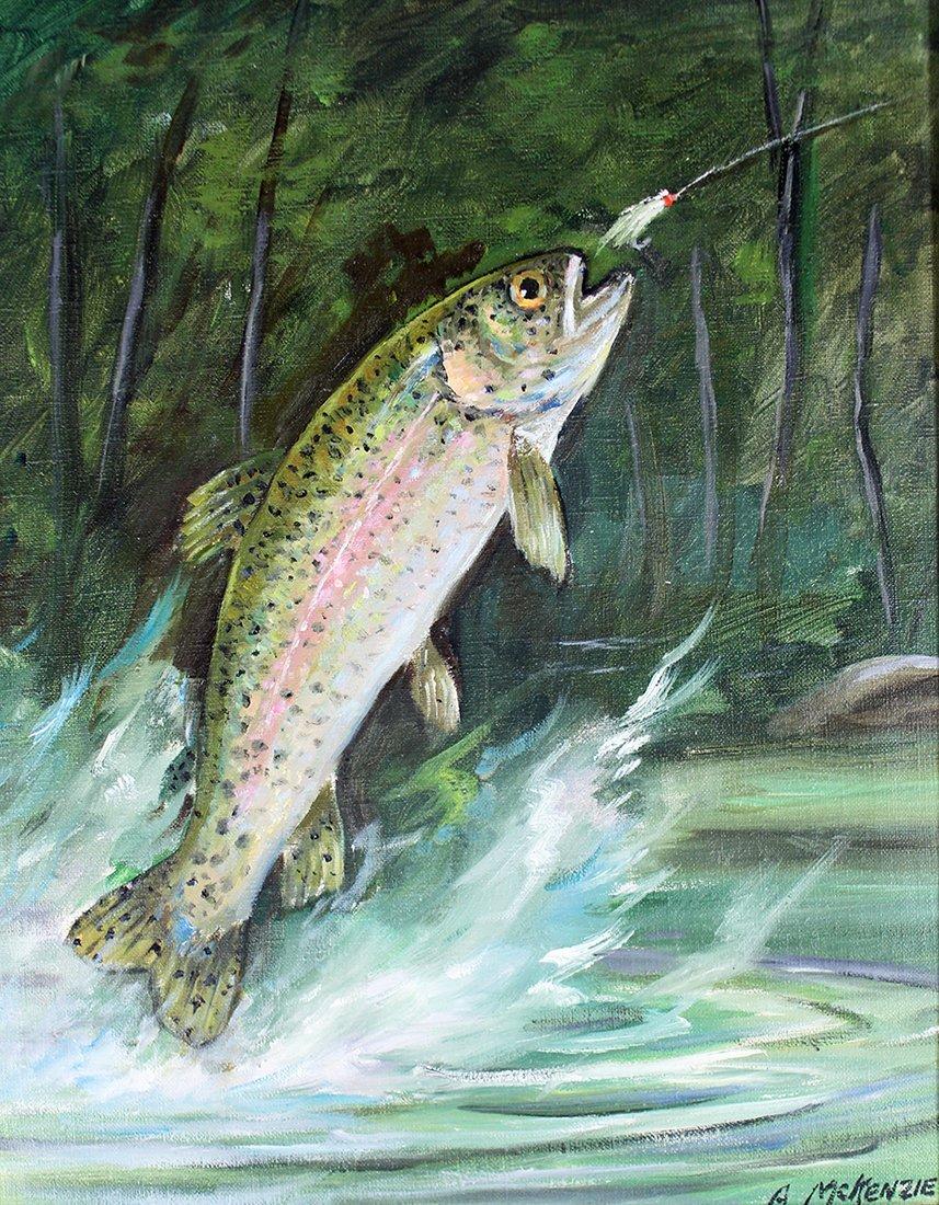 A. MCKENZIE FISHING PAINTING