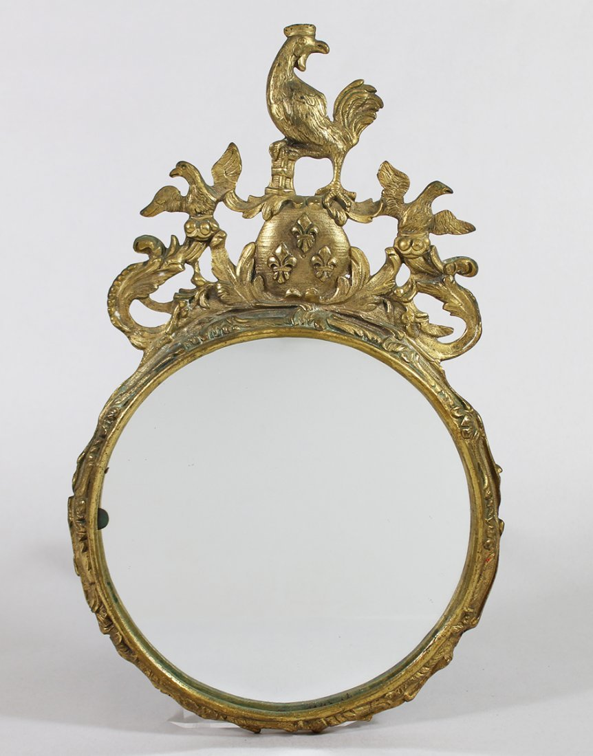 ANTIQUE FRENCH BRONZE MIRROR