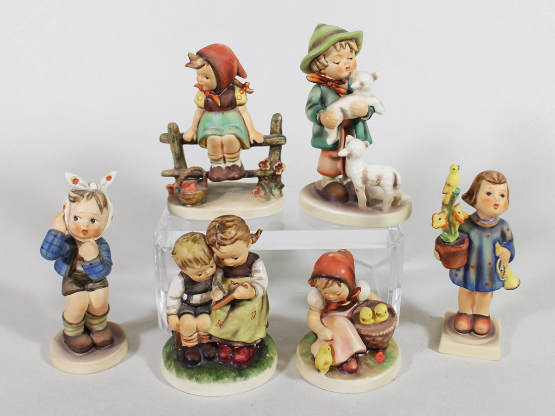 (6) HUMMEL FIGURINES