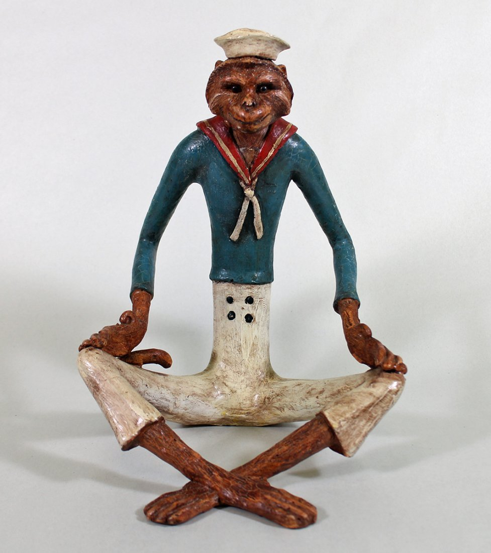 SITTING SAILOR MONKEY FIGURINE