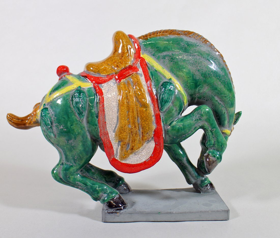 VINTAGE CHINESE CLAY TANG HORSE - 2