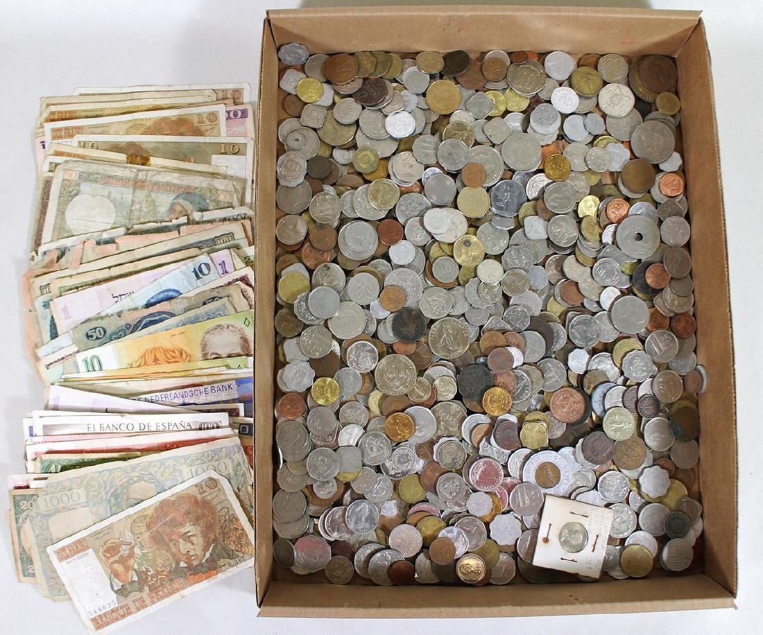 FOREIGN COINS & PAPER CURRENCY