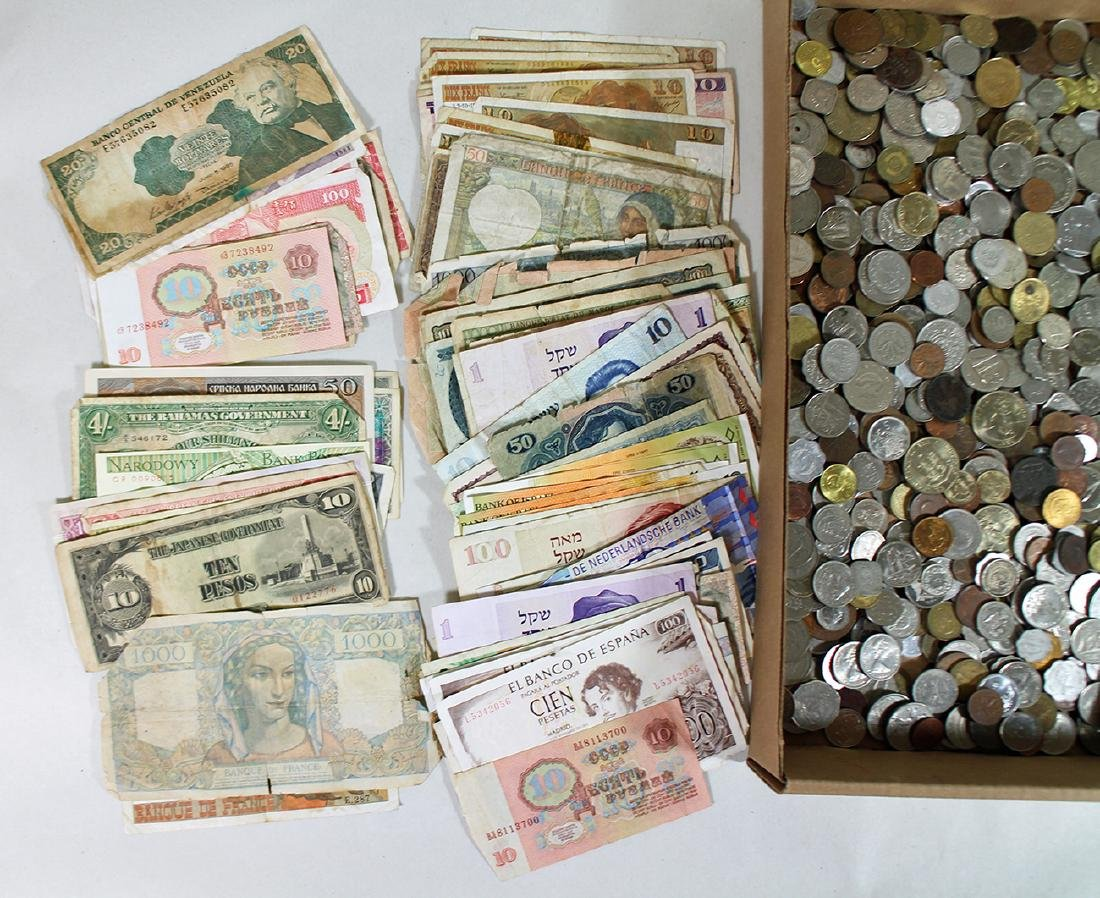 FOREIGN COINS & PAPER CURRENCY - 3