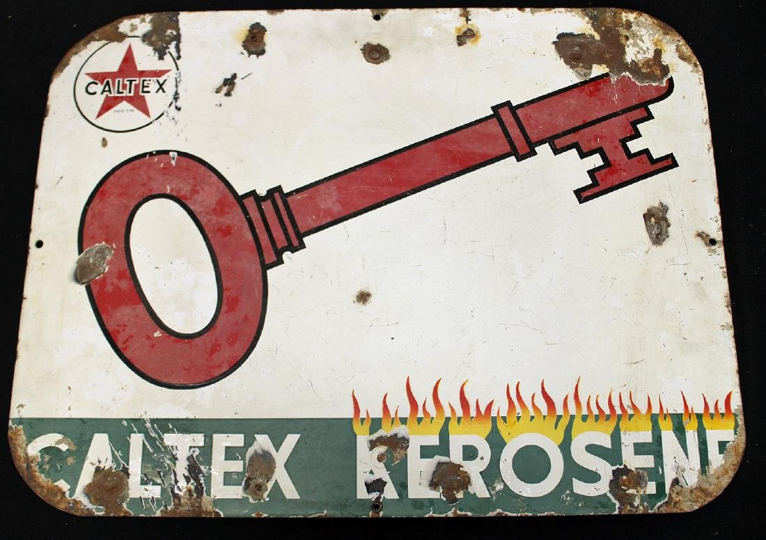 CALTEX KEROSENE SIGN - 2