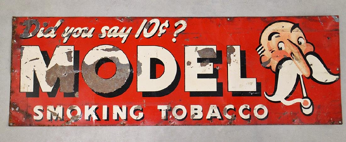 ANTIQUE MODEL TOBACCO SIGN