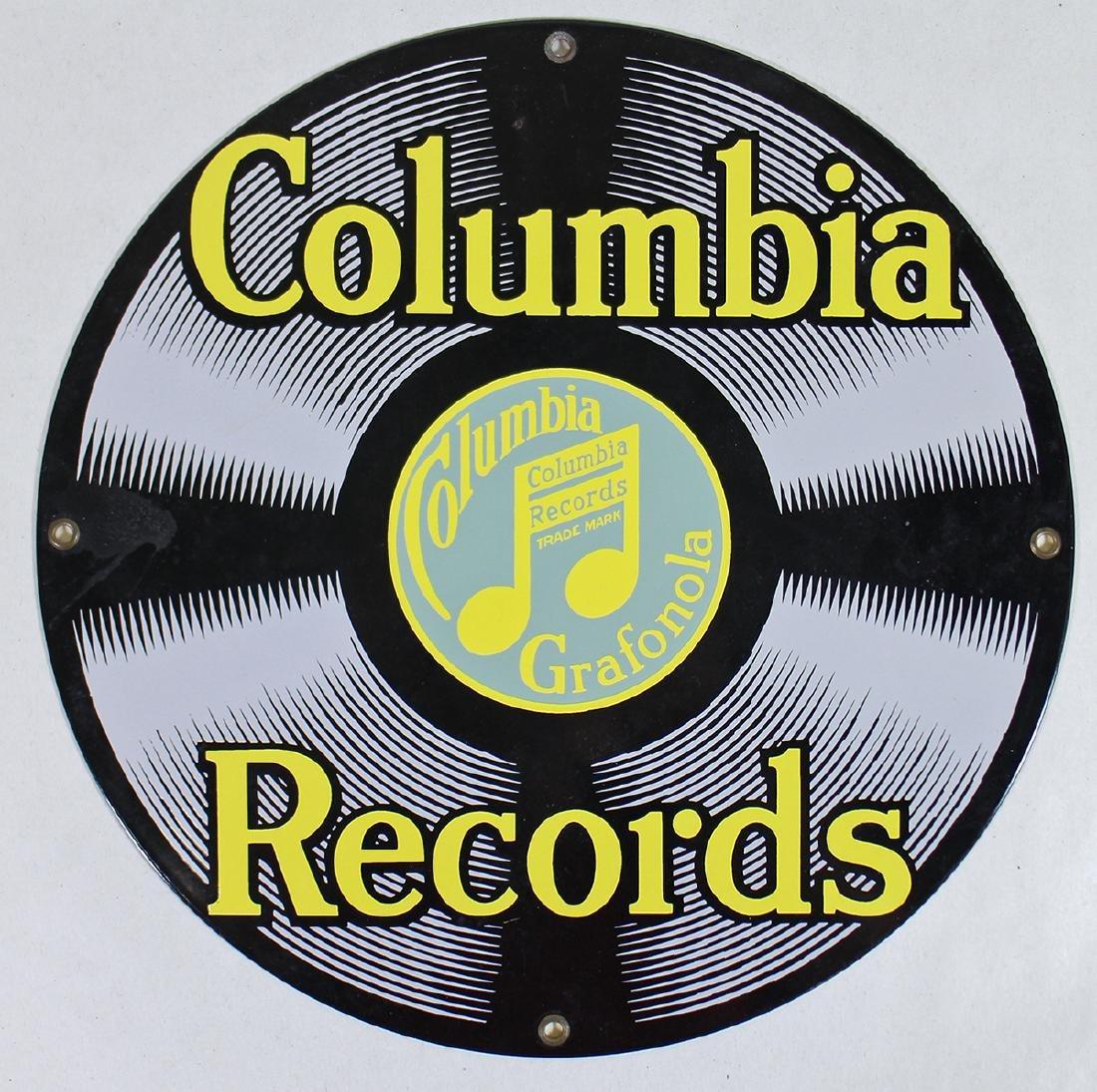 COLUMBIA RECORDS ROUND SIGN
