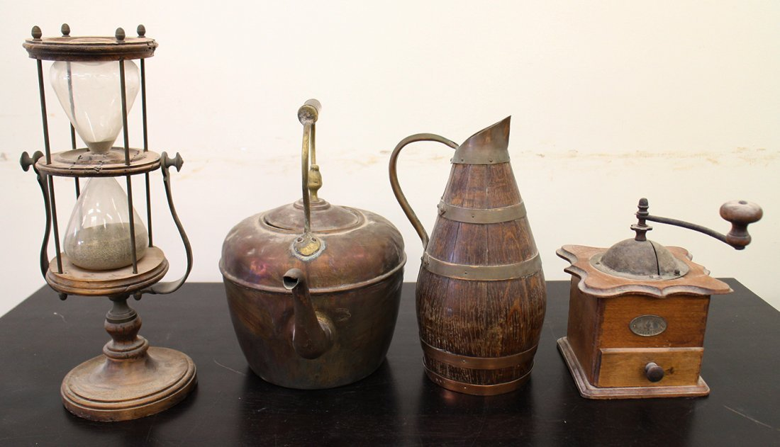 COFFEE GRINDER, HOURGLASS, & MORE