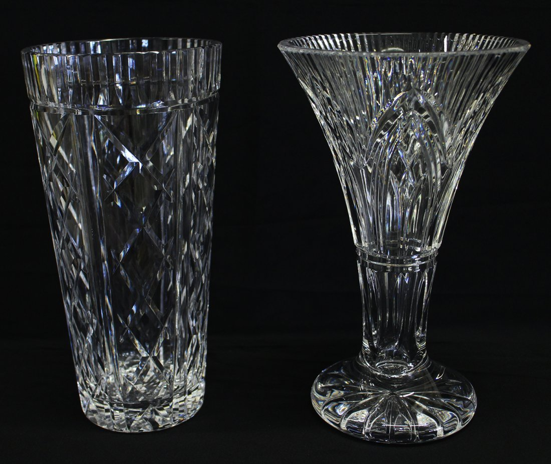 (2) WATERFORD CRYSTAL VASES