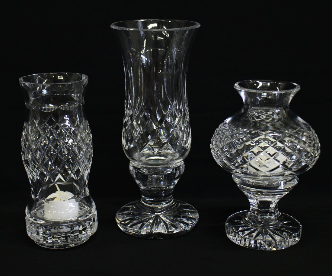 (3) WATERFORD CRYSTAL VOTIVE CANDLEHOLDERS