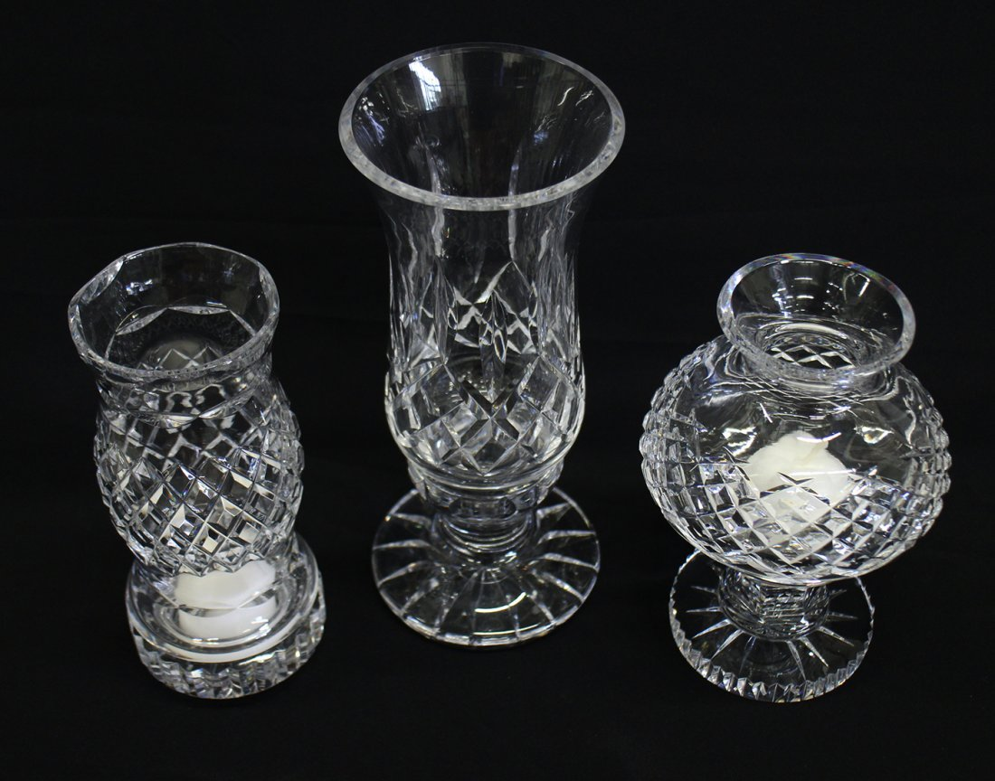 (3) WATERFORD CRYSTAL VOTIVE CANDLEHOLDERS - 2
