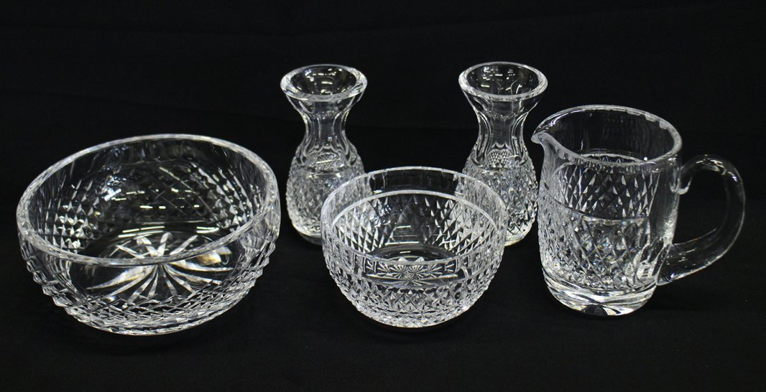 5 PC WATERFORD CRYSTAL COLLECTION
