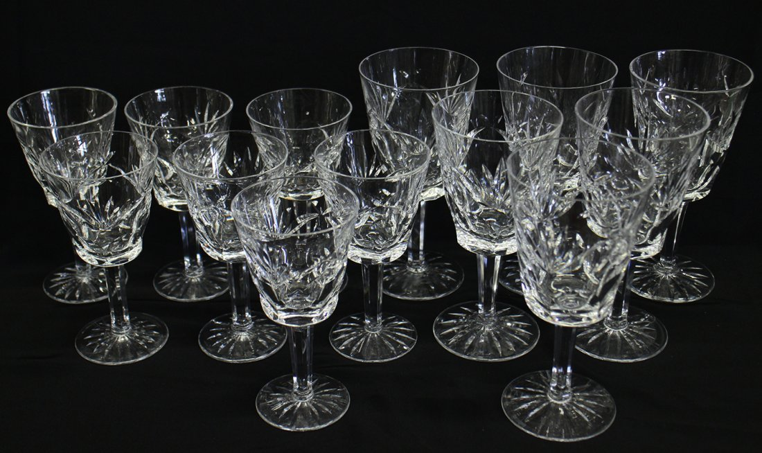 (13) WATERFORD CRYSTAL ASHLING GLASSES
