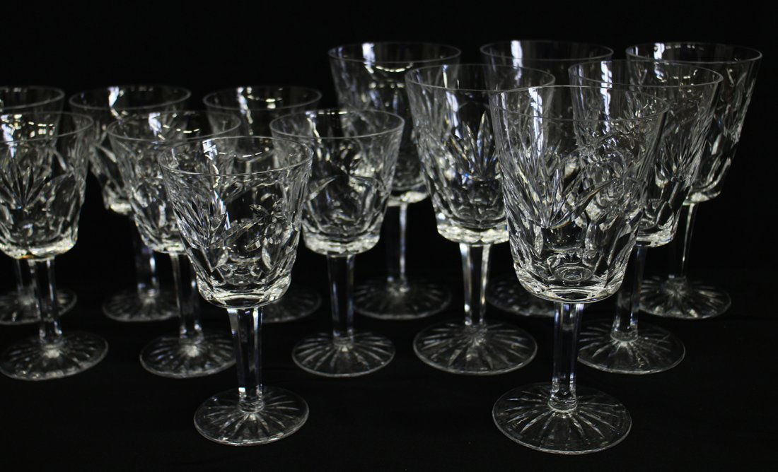 (13) WATERFORD CRYSTAL ASHLING GLASSES - 3