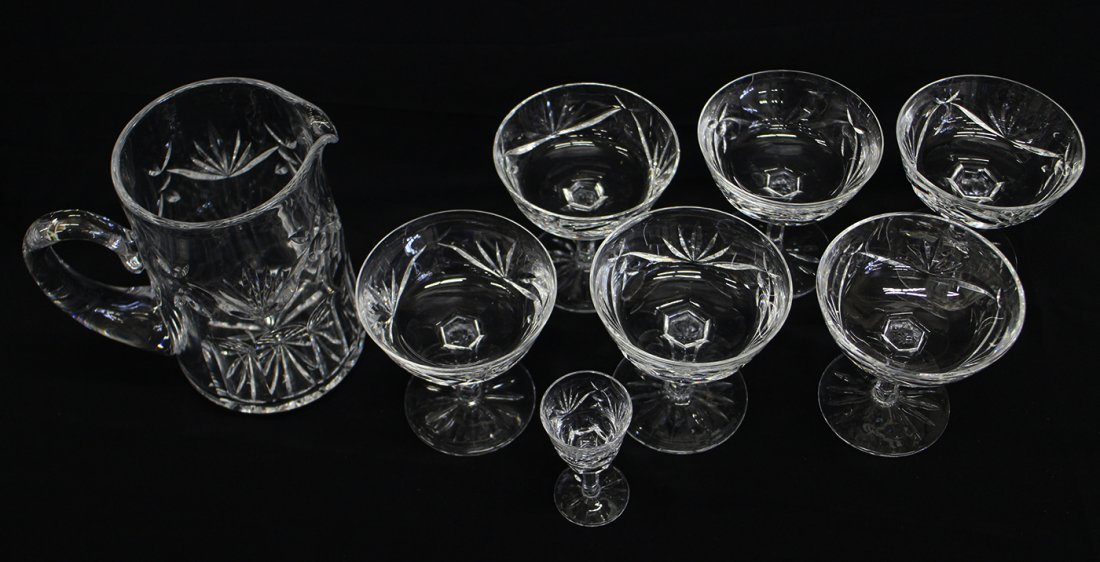 WATERFORD CRYSTAL ASHLING PITCHER & GLASSES - 2