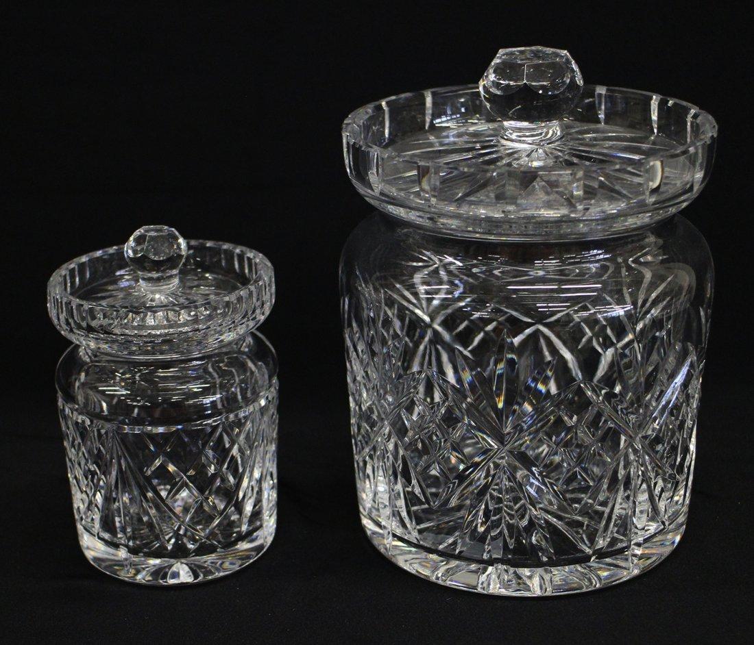 WATERFORD CRYSTAL BISCUIT & HONEY JARS