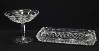 WATERFORD CRYSTAL COMPOTE & TRAY
