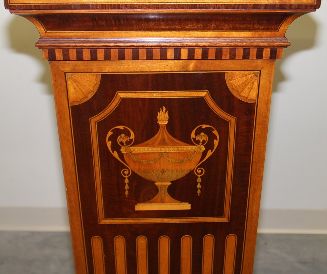(2) 19TH CENTURY ENGLISH INLAID MARQUETRY PEDESTALS - 5