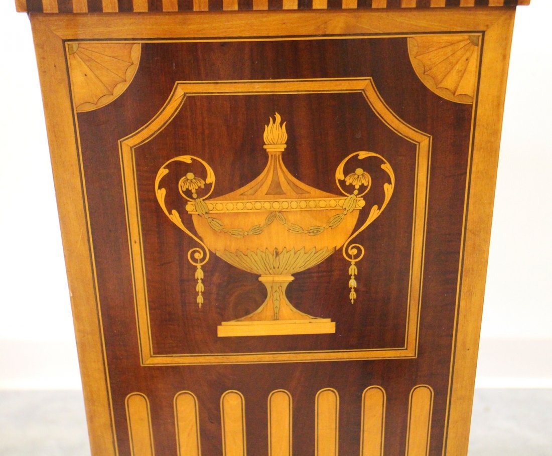 (2) 19TH CENTURY ENGLISH INLAID MARQUETRY PEDESTALS - 6