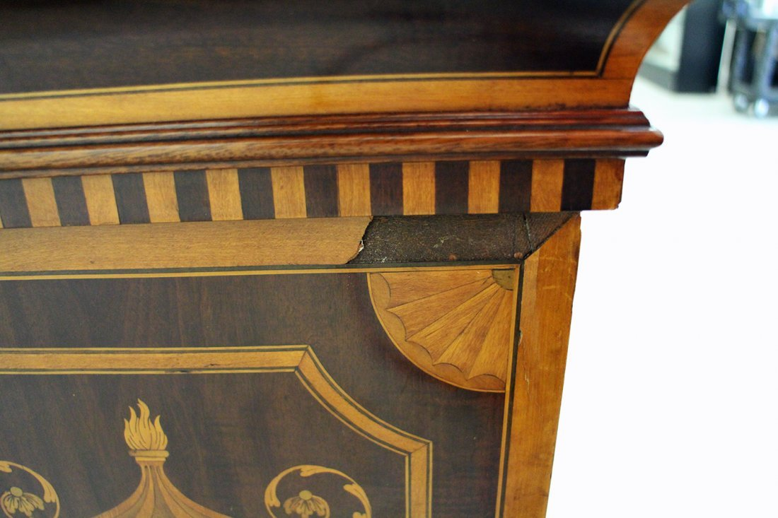 (2) 19TH CENTURY ENGLISH INLAID MARQUETRY PEDESTALS - 8