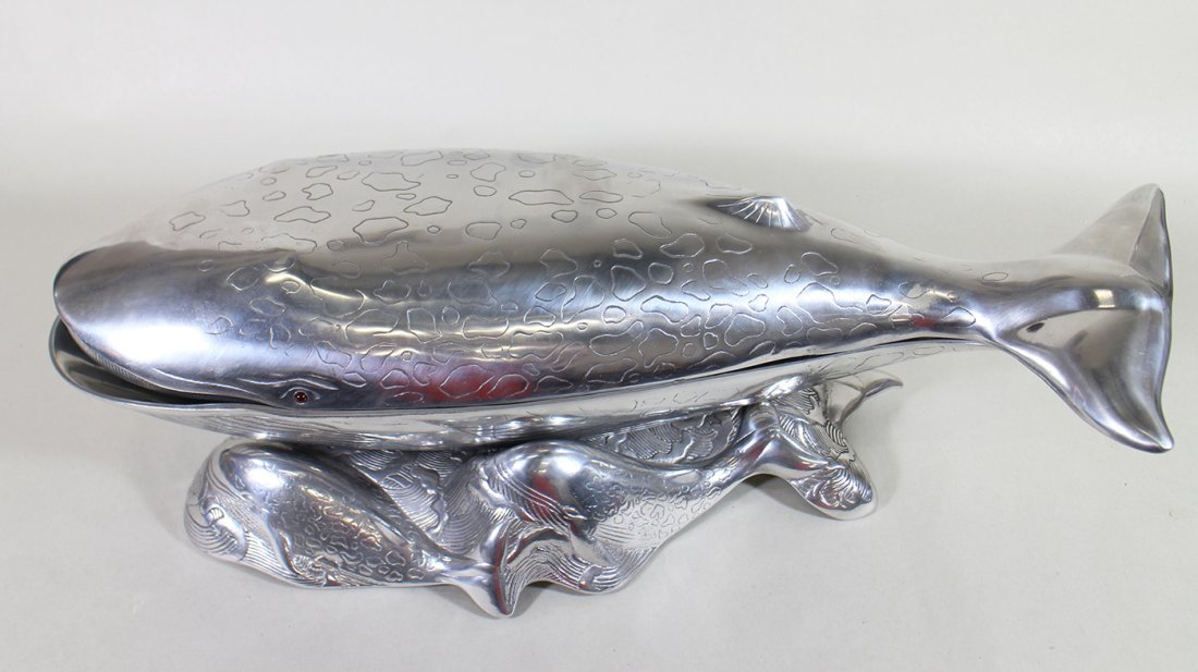 ARTHUR COURT COVERED WHALE SERVING DISH - 2