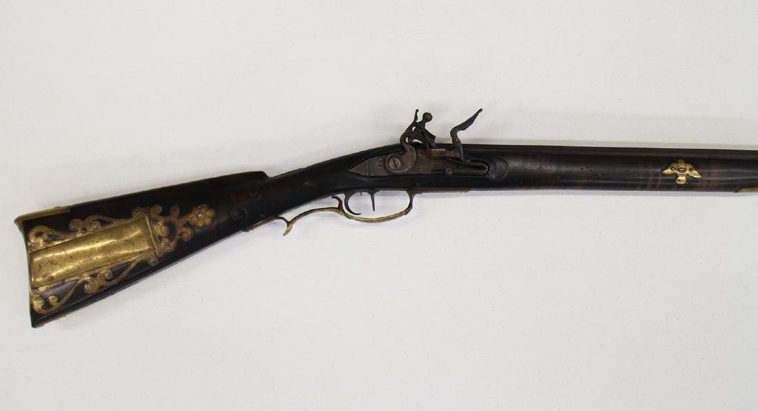 FULL STOCK FLINTLOCK RIFLE - 2
