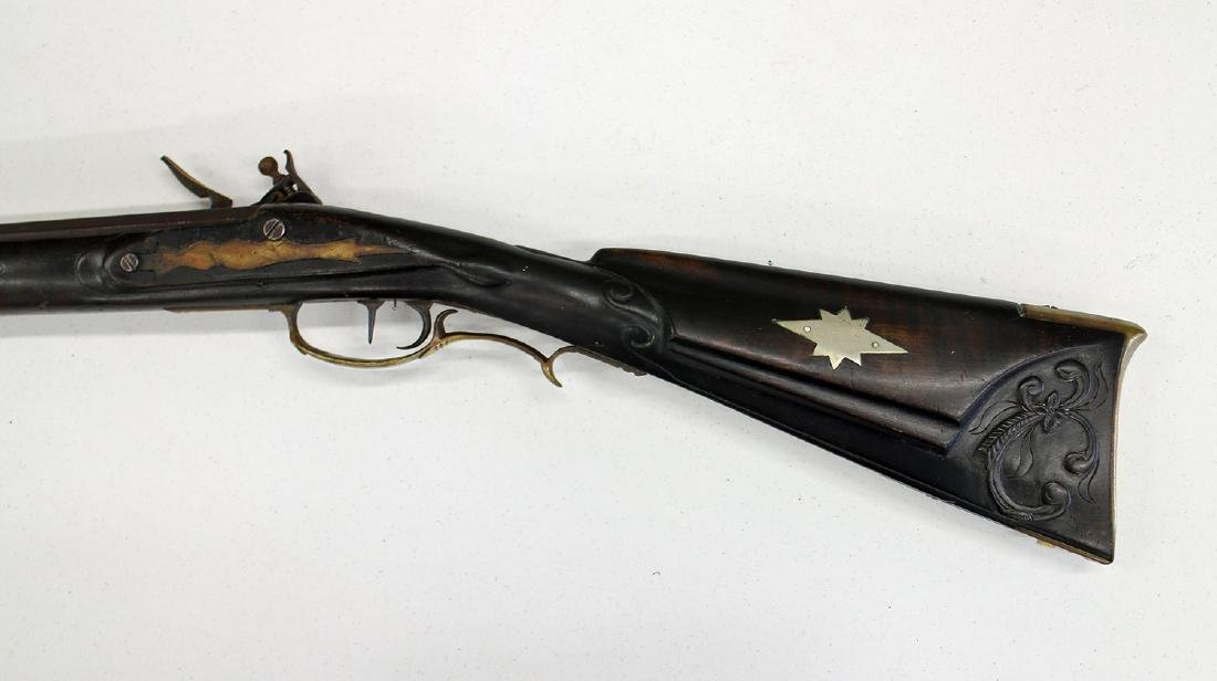 FULL STOCK FLINTLOCK RIFLE - 5