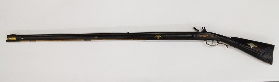 FULL STOCK FLINTLOCK RIFLE - 6