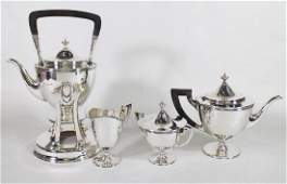 4 PC TIFFANY  CO MAKERS STERLING TEA SET