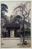 HIROSHI YOSHIDA PLUM GATEWAY WOODBLOCK