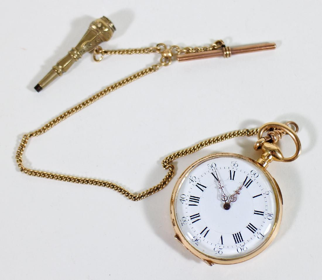 EARLY 1800'S FRENCH 18KT POCKET WATCH