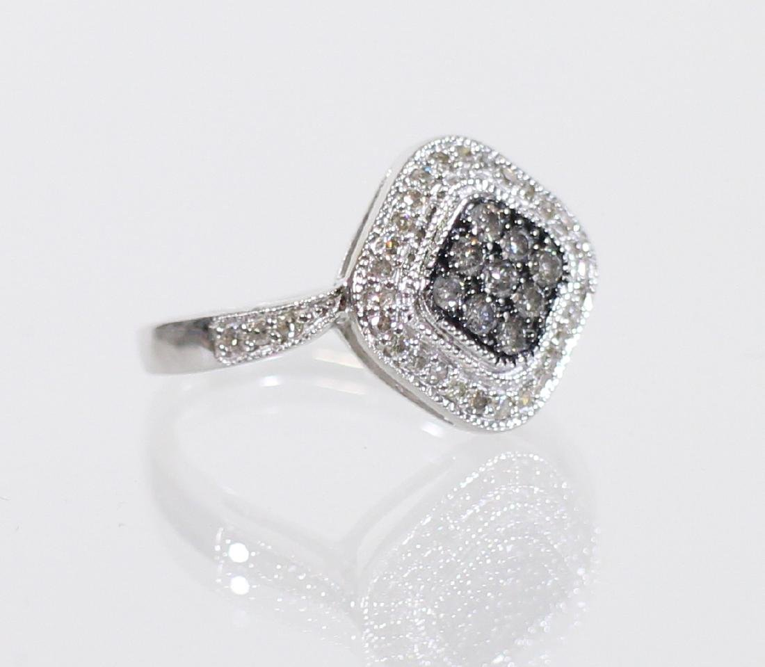 14KT CHOCOLATE & WHITE DIAMOND RING