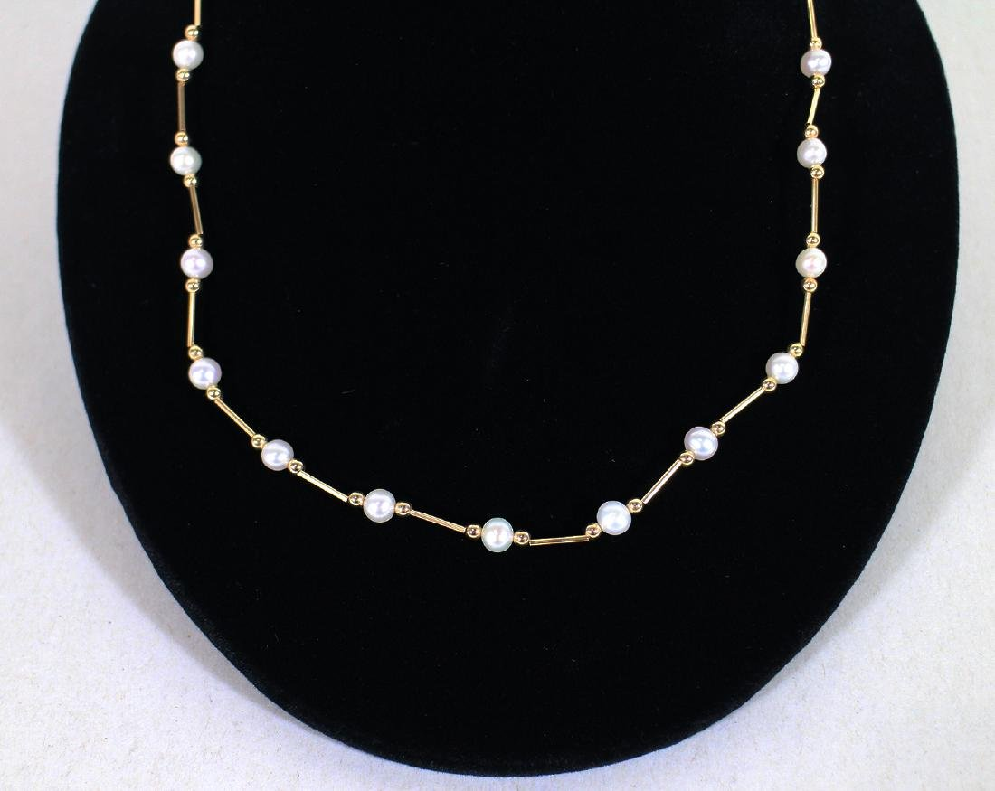 14K FRESH WATER PEARL NECKLACE - 2