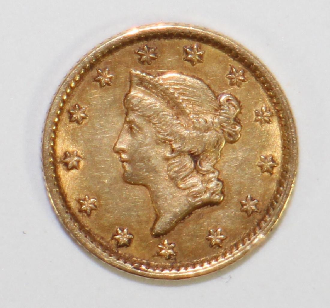 1854 $1 LIBERTY HEAD GOLD COIN