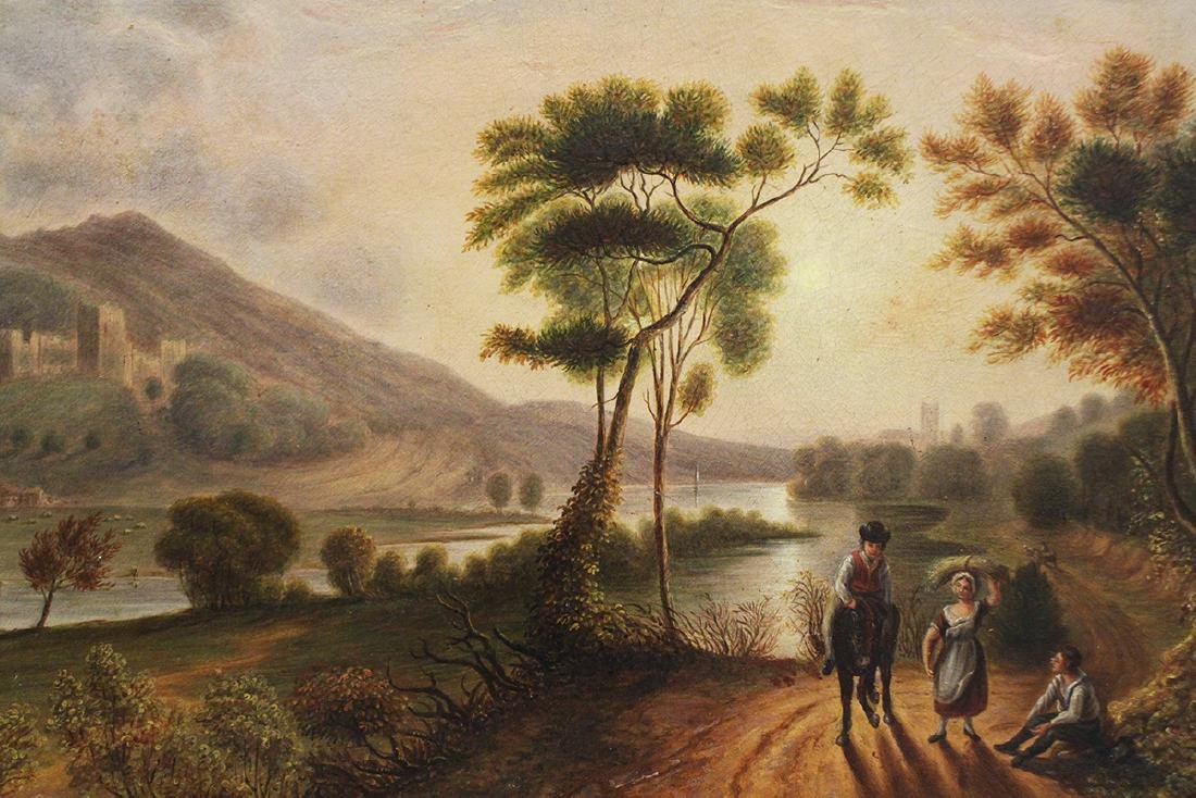 PRUDHOE CASTLE PAINTING