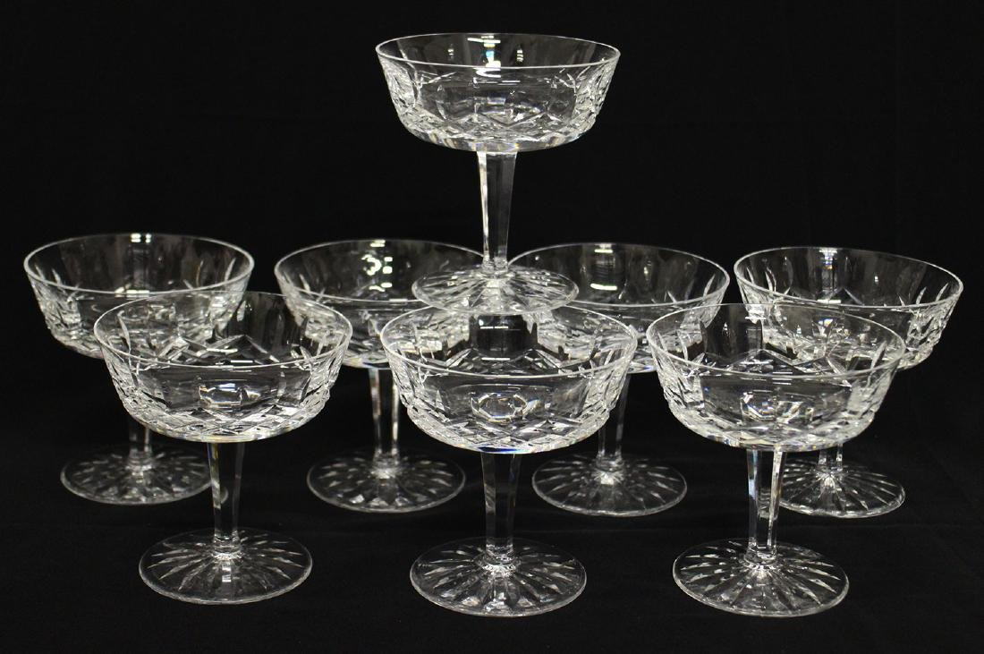 (8) WATERFORD CRYSTAL LISMORE CHAMPAGNE GLASSES