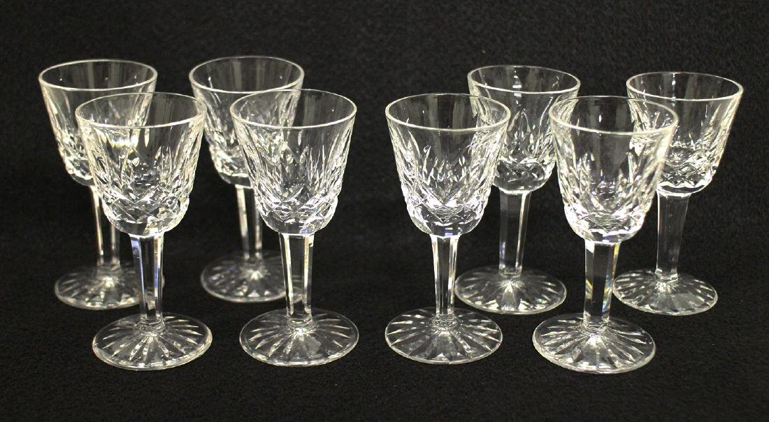 (8) WATERFORD CRYSTAL LISMORE CORDIAL GLASSES