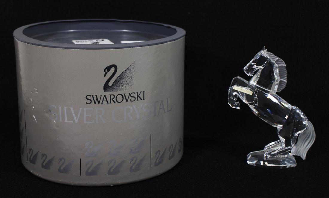 SWAROVSKI CRYSTAL WHITE STALLION FIGURINE W/ BOX
