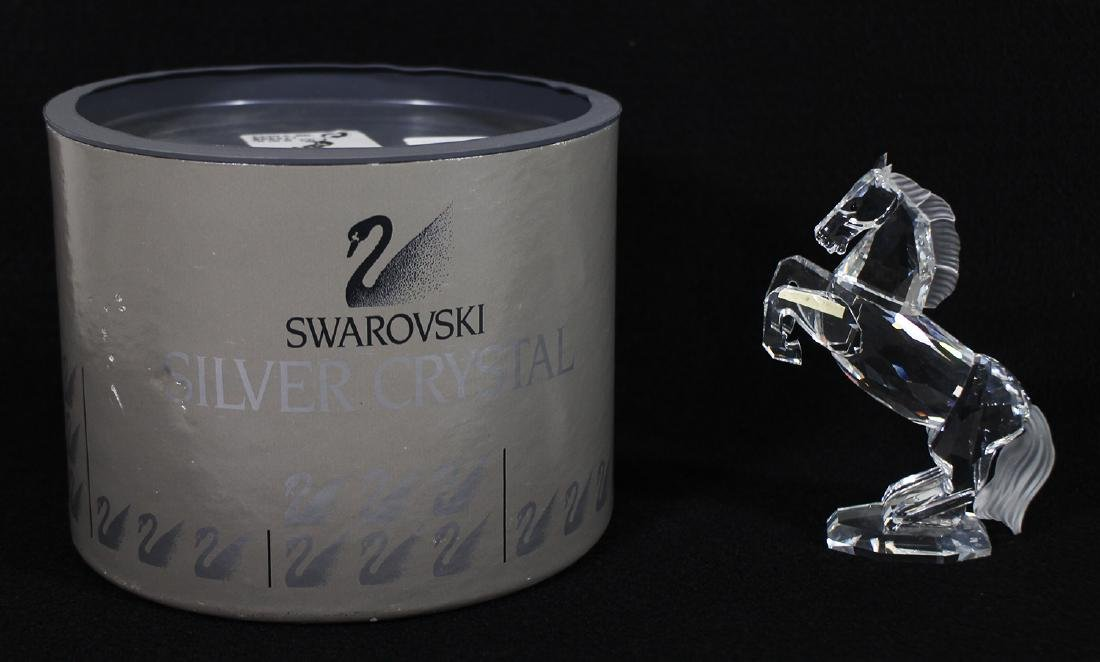 SWAROVSKI CRYSTAL WHITE STALLION FIGURINE W/ BOX