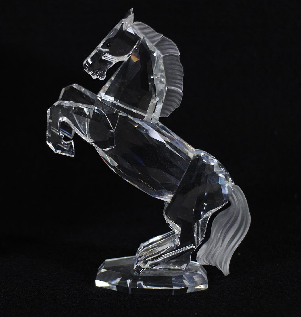 SWAROVSKI CRYSTAL WHITE STALLION FIGURINE W/ BOX - 2