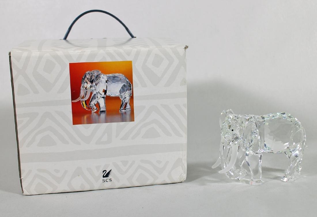 1993 SWAROVSKI CRYSTAL ELEPHANT W/ BOX