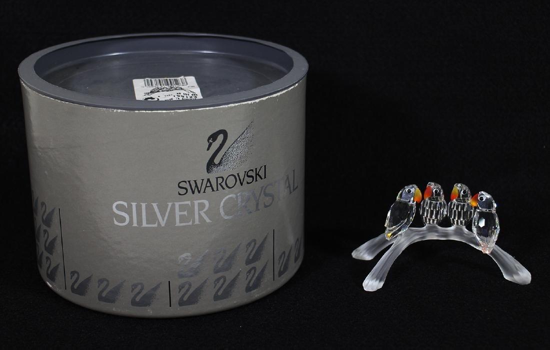 SWAROVSKI CRYSTAL LOVEBIRDS W/ BOX