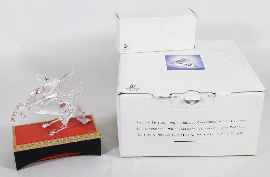 SWAROVSKI CRYSTAL PEGASUS FIGURINE W/ BOX & STAND